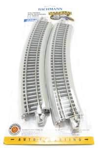 "Bachmann USA 44549 Nickel Silver E-Z Track. 4 x 18"" radius ""electronic auto-reversing"" curves"