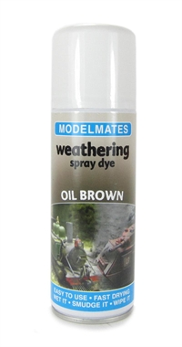 Modelmates 49053 Weathering Spray Dye - Oil Brown - 200ml