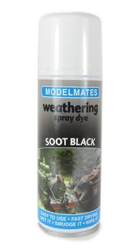 Modelmates 49055 Weathering Spray Dye - Soot Black - 200ml