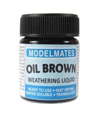 Modelmates 49203 Jar Of Weathering Liquid - Oil Brown - 18ml