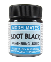 Modelmates 49205 Jar of Weathering Liquid - Soot Black - 18ml