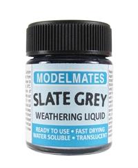 Modelmates 49207 Jar Of Weathering Liquid - Slate Grey - 18ml