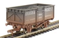 "Dapol 4F-030-008 16 Ton steel mineral wagon ""Atkinson & Prickett"" - weathered"