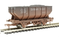"Dapol 4F-034-101 21 ton hopper wagon ""British Steel #32"" - weathered"