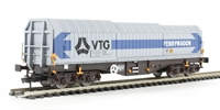 Dapol 4F-039-004 Telescopic hood wagon in Tiphook blue & grey livery #589 9 058 8