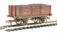 "Dapol 4F-052-004 5 plank wagon 9' wheelbase ""Steven & Co"" - weathered"