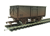 Dapol 4F-030-004 16 Ton steel mineral wagon in BR Grey - weathered