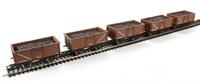 Dapol 4F-030-005 16 Ton steel mineral wagon in BR bauxite - Multipack of 5
