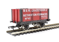 "Dapol 4F-072-001 7 plank wagon with 9' chassis ""Grazebrook"""