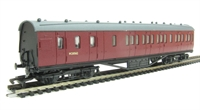 Dapol 4P-010-001 RTR 57ft Stanier non corridor brake compositie in BR Carmine unlined