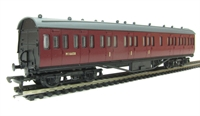 Dapol 4P-010-002 RTR 57ft Stanier non corridor composite coach in BR Carmine unlined