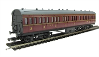Dapol 4P-010-003 RTR 57ft Stanier non-corridor composite in LMS maroon lined