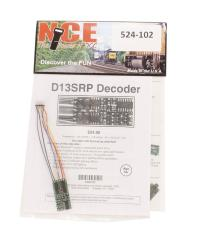 """NCE 524-102 8-pin 4-function 1.3A (2A peak) D13SRP decoder (1.35"""" x 0.63"""" x 0.110"""" - very thin)"""