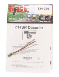 """NCE 524-129 4-function 1A (1.25A peak) Z14SR small wired decoder (Size: 0.34"""" x 0.56"""" x 0.125"""")"""