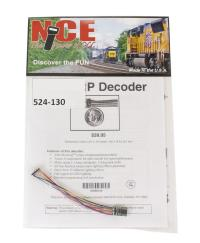 """NCE 524-130 8-pin 4-function 1A (1.25A peak) Z14SRP small decoder (Size: 0.34"""" x 0.56"""" x 0.125"""")"""