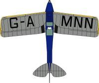 Oxford Diecast 72TM007 DH Tiger Moth G-AMNN Spirit of Pashley