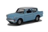 Oxford Diecast 76105007 Ford Anglia in light blue/Ermine white