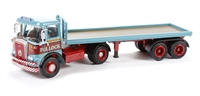 "Oxford Diecast 76ATK001 Atkinson Borderer Flatbed Trailer ""Pollock"""