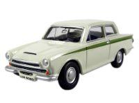 Oxford Diecast 76COR1001 Ford Cortina MK1 in ermine white & green livery