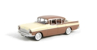Oxford Diecast 76CRE007 Vauxhall Cresta Regency in cream/Havana brown