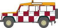Oxford Diecast 76DEF010 Land Rover Defender Station Wagon red & white check RAF Northolt