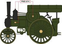Oxford Diecast 76FOW003 Fowler B6 Locomotive WW1 France