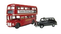 "Oxford Diecast 76LD004 London Bus & Taxi Gift ""Best of British"" range"