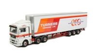 "Oxford Diecast 76MAN01FR MAN TGX XLX refrigerated trailer ""Turners of Soham"""