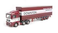 "Oxford Diecast 76MAN03CS MAN TGX XLX Curtainside ""Downton Distribution"""