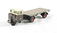 "Oxford Diecast 76MH003 Mechanical horse flatbed trailer ""GWR"""