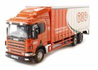 Oxford Diecast 76S94001 Scania 94 6 Wheel Curtainside TNT