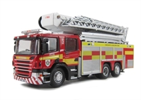 Oxford Diecast 76SAL004 Scania Aerial Fire Rescue Pump Mid & West Wales F&R Service