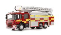 "Oxford Diecast 76SAL005 Scania Aerial Rescue Pump ""Northamptonshire Fire & Rescue"""