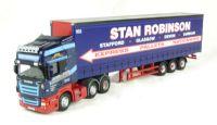 "Oxford Diecast 76SCA04CS Scania R420 Curtainside ""Stan Robinson"""