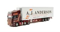 "Oxford Diecast 76SCA05FR Scania R Series Topline Fridge ""A J Anderson"". Production run of 2000"