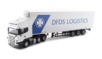"Oxford Diecast 76SCA07FR Scania R Topline Fridge Trailer ""DFDS Logistics"""