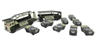 Oxford Diecast 76SET16 Land Rover Transporter set with transporter & 8 vehicles