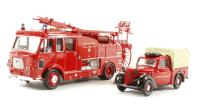 Oxford Diecast 76SET24 London Fire Brigade Set - Dennis F106 and Austin Tilly