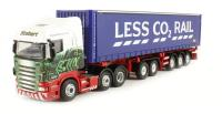 "Oxford Diecast 76SHL01CT Scania Highline CombiTrailer & Container ""Eddie Stobart"""