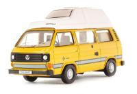 Oxford Diecast 76T25006 VW T25 Camper in Bamboo yellow