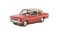 "Oxford Diecast 76COR2006 Ford Cortina Mk2 ""Red/Gold Racing"""