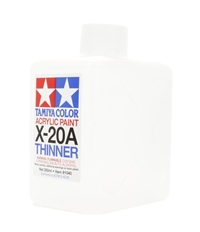 Tamiya 81040 X-20A Acrylic thinner 250ml large value bottle