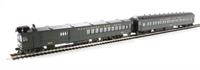 Bachmann USA 81422 EMC Gas Electric Doodlebug Locomotive W/Trailer Coach B & O (Olive Green)