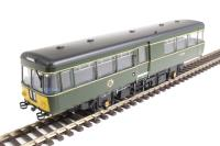 Heljan 8751 Park Royal Railbus SC79974 in BR green with small yellow warning panels