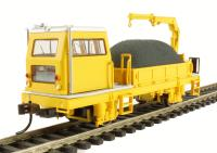 Bachmann USA 87902 Ballast Vehicle with Crane in yellow (DCC On Board)