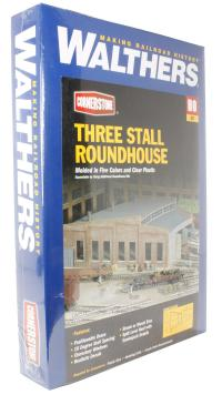 """Walthers 933-3041 Roundhouse with 2-Level Roof. Holds engines up to 13"""" long"""