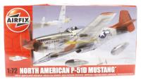 Airfix A01004 P-51D Mustang with USAAF marking transfers including 'Red Tails' markings as used in the film of the same name
