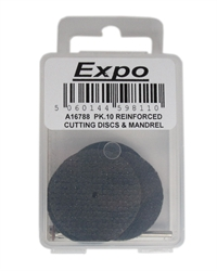 Expo Drills & Tools A16788 Reinforced Discs With Mandrel - Pack of 10