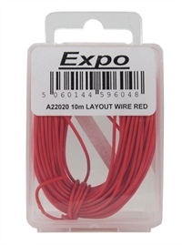Expo Drills & Tools A22020 Multicore Wire Red - 10m Roll of 7/0.1mm