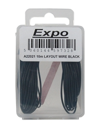 Expo Drills & Tools A22021 Multicore Wire Black - 10m Roll of 7/0.1mm